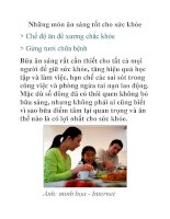 Những món ăn sáng tốt cho sức khỏe pdf