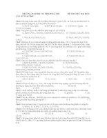 ĐỀ THI THỬ ĐẠI HỌC MÔN HÓA TRƯỜNG ĐẠI HỌC SƯ PHẠM HÀ NỘI LẦN III doc