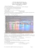 Bài tập trắc nghiệm phần dao động cơ học docx