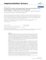 Can patient decision aids help people make good decisions about participating in clinical trials? A study protocol potx