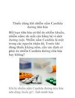 Thuốc dùng khi nhiễm nấm Candida đường tiêu hóa pot