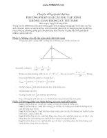 Phương pháp giải các bài tập hình không gian trong kỳ thi tuyển sinh đại học docx