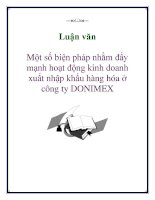 Luận văn: Một số biện pháp nhằm đẩy mạnh hoạt động kinh doanh xuất nhập khẩu hàng hóa ở công ty DONIMEX pps