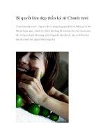 Bí quyết làm đẹp thần kỳ từ Chanh tươi (Tapchilamdep.com) - Ngoài việc có công potx