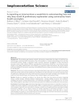 Is reporting on interventions a weak link in understanding how and why they work? A preliminary exploration using community heart health exemplars docx
