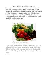 Dinh dưỡng cho người bệnh gan pot