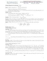 Đề thi thử đại học môn toán khối A Trường Trần Hưng Đạo ppt