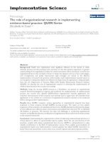 The role of organizational research in implementing evidence-based practice: QUERI Series pot