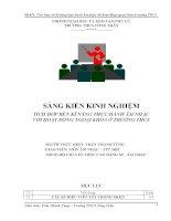 skkn tích hợp rèn kỹ năng thực hành âm nhạc với hoạt động ngoại khóa ở trường thcs