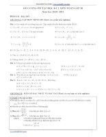 Đề cương ôn tập học kì 1 môn toán lớp 10 năm 2010-2011 ppsx