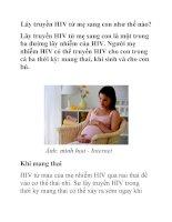 Lây truyền HIV từ mẹ sang con như thế nào? pot