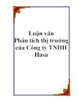 Luận văn - Phân tích thị trường của Công ty TNHH Hasa pps