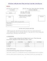 Các đề thi học sinh giỏi môn Tiếng Anh lớp 9 cấp tỉnh ( kèm đáp án)