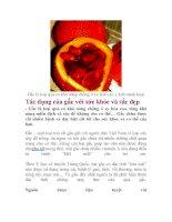 Tác dụng của gấc với sức khỏe và sắc đẹp pdf