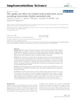 The uptake and effect of a mailed multi-modal colon cancer screening intervention: A pilot controlled trial potx