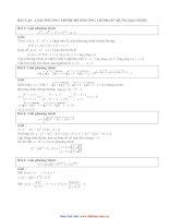 sử dụng đạo hàm để giải bất phương trình pot