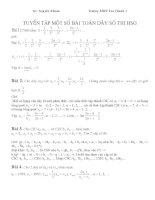 Tuyền tập một số bài toán dãy số thi học sinh giỏi doc