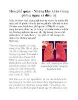 Hen phế quản - Những khó khăn trong phòng ngừa và điều trị doc