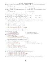 Bài tập trắc nghiệm vật lý toàn tập 2015