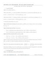 chuyên đề CỰC TRỊ hàm số