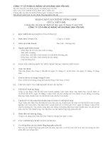 báo cáo tài chính tổng hợp giữa niên độ 6 tháng đầu của năm tài chính kết thúc ngày 31 tháng 12 năm 2013 công ty cổ phần xi măng và khoáng sản yên bái