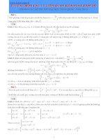 Tuyển chọn các chuyên đề liên quan đến hàm số trong thi đại học