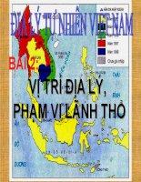 Giáo án điện tử môn Địa Lý: Vĩ trí lãnh thổ Việt Nam ppt