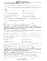 Bộ đề thi thử môn Vật Lý có đáp án
