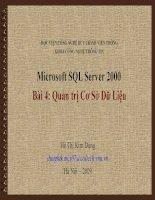 Bài giảng điện tử môn tin học: Quản trị Cơ Sở Dữ Liệu doc