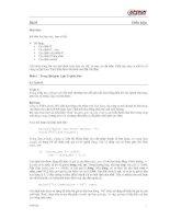 Bài 8 Mục tiêu: Kết thúc bài học này, bạn có thể:  Sử dụng:  Câu lệnh pptx