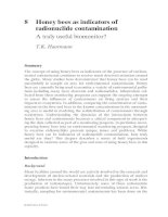 Honey Bees: Estimating the Environmental Impact of Chemicals - Chapter 8 pptx