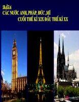 Bài giảng điện tử lịch sử: Các nước Anh, Pháp, Đức cuối thế kỷ XX docx
