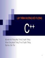 Bài giảng điện tử môn tin học: LẬP TRÌNH HƯỚNG ĐỐI TƯỢNG C++ doc