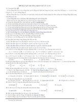 200 câu trắc nghiệm dao động cơ và sóng cơ pot