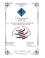 một số vấn đề pháp lý về cơ chế giải quyết tranh chấp của WTO