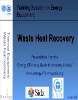 Waste heat recovery pot