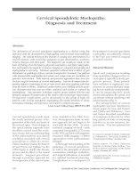 Cổ tử cung : Chẩn đoán và điều trị doc