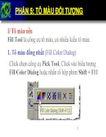 Bài giảng điện tử môn tin học: Tô màu đối tượng ppsx