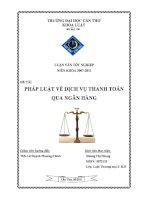 pháp luật về dịch vụ thanh toán qua ngân hàng