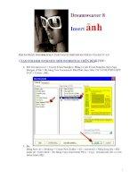 Dreamweaver 8InsertảnhBÀI 16 NGÀY 19.8.2006 SOẠN THEO SÁCH DREMWEAVER 8 CỦA KS TV doc