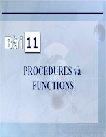 Bài giảng điện tử môn tin học: Procedures và Funtions doc