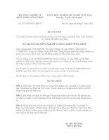 Quyết định số 2972/QĐ-BNN-KHCN doc