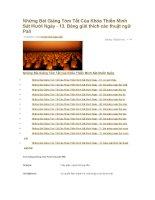 Những Bài Giảng Tóm Tắt Của Khóa Thiền Minh Sát Mười Ngày pot