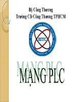 Bài giảng điện tử môn tin học: Hệ thống mạng plc ppsx