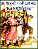 Bài giảng môn lịch sử: Khởi nghĩa Lam Sơn pot