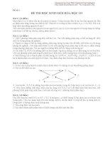 Đề thi học sinh giỏi hóa học 10 đề số 3 pptx