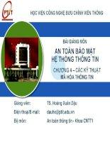 Chương 4- Các kỹ thuật mã hóa thông tin_TS Hoàng Xuân Dậu