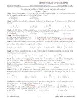 Bài tập trắc nghiệm Lý phần Đông lượng Trường THPT Ninh Hải pdf