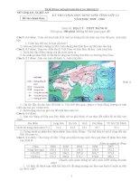 Bộ đề thi học sinh giỏi môn địa lý các tỉnh lớp 12