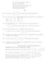 Đề thi học kỳ Đại số tuyến tính năm 2009-2010 pdf